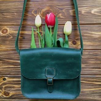 Жіноча сумка Art Pelle Handy зелена (Crazy Horse)