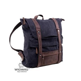 Мужской (женский) рюкзак из канваса и натуральной кожи, серый графит