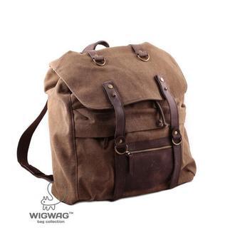 Мужской рюкзак из канваса и натуральной кожи