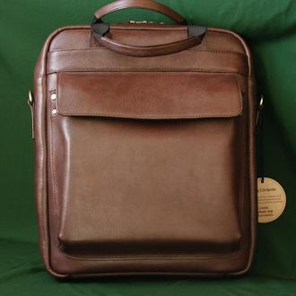 """Кожаная мужская сумка под планшет """"Стиль"""""""