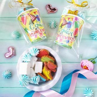 Сладкие угощения на детские праздники (пряники, маршмеллоу, безе)