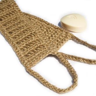 Мочалка из джута массажная для спины и тела