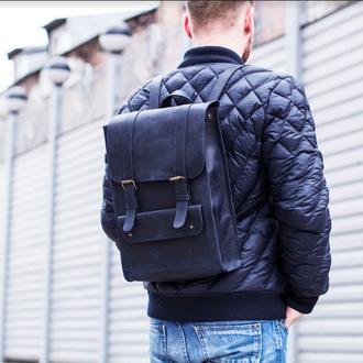 Рюкзак из кожи, отделение для ноутбука, городской рюкзак на каждый день
