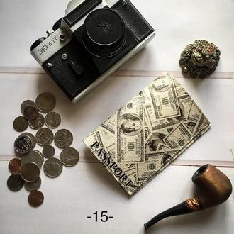 Обложка на паспорт Доллары