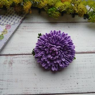 """Резинка для волос """"Хризантема"""" из фоамирана, цветы на резинке, цветы для волос, резинка для девочки"""