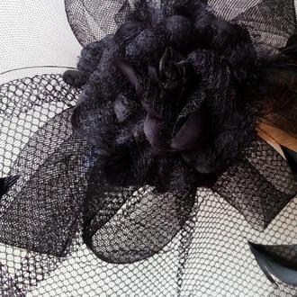 Шляпка с розой Шляпка с вуалью