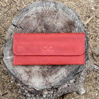 Кошелек портмоне на магнитах красный magnets