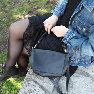 Стильная кожаная сумка кроссбоди. Шкіряна сумка.