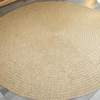 Коврик циновка круглый безворсовый натуральный из джута (150cм)