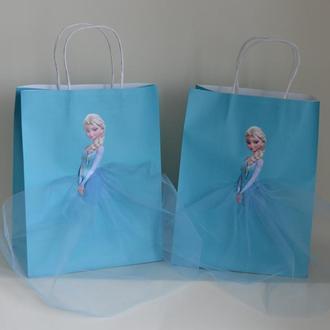 """подарочные пакеты """"Холодное сердце"""" Эльза"""