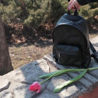 Стильный женский кожаный рюкзак (размер М),  Шкіряний рюкзак на кожен день