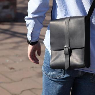 Мужская сумка через плечо из натуральной кожи, Чоловіча шкіряна сумка