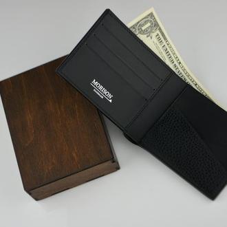 Мужское кожаное портмоне, Именное кожаное портмоне Подарунок чоловiку Шкiрний гаманець Подарок мужу