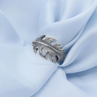 """Серебряное кольцо """"Невесомость"""" черненое"""