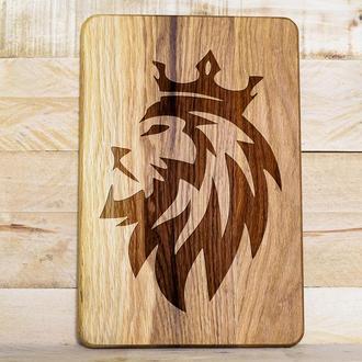 """""""Король лев"""" разделочная доска, доска для подачи закусок из дуба"""