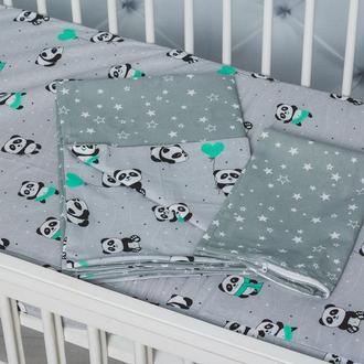 Сменное постельное белье в кроватку младенца Панды