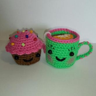 Сладкая парочка: Лимонный чай и кексик