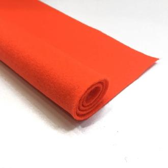 Фетр оранжевый 1.3 мм 20*30 см | № 00974
