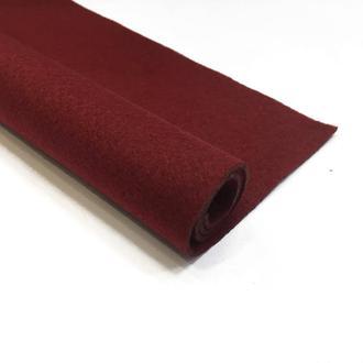 Фетр бордовый 1.3 мм 20*30 см | № 00970