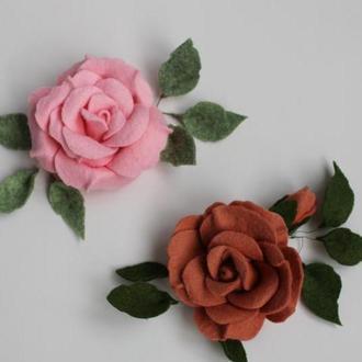 Троянди з американського фетру
