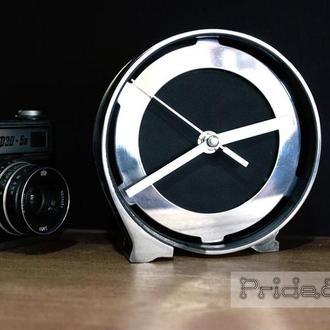 """Custom Industrial Clock """"Pride&Joy"""" (настольные часы ручной работы)"""