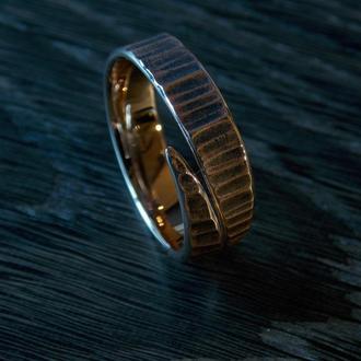 Кованное безразмерное бронзовое кольцо