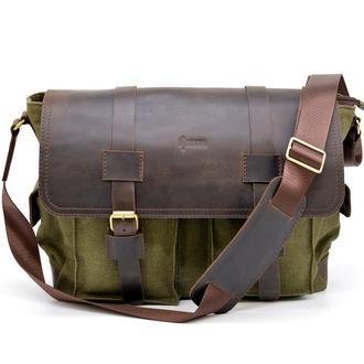 Мужская сумка через плечо парусина и кожа RH-6690-4lx бренда Tarwa