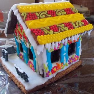Новогодний, Рождественский пряничный домик
