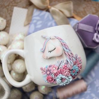 Милая чашечка с единорогом