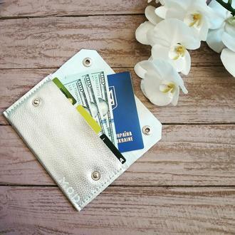 Кожаный клатч - кошелек Standard+ от mod™, шкіряний гаманець - клатч