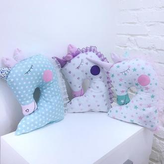 детская подушка игрушка единорог подарок девочке игрушки для новорожденных подушки обнимашки