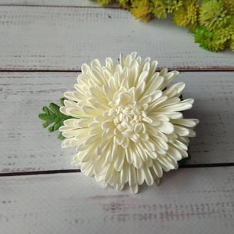 Хризантемка из фоамирана на резинке, Цветы на резинке, цветы для волос
