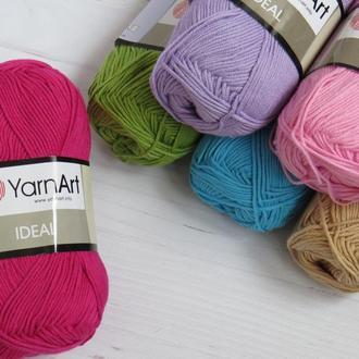 Пряжа для ручного вязания 100% хлопок YarnArt Ideal, пряжа для вязания игрушек