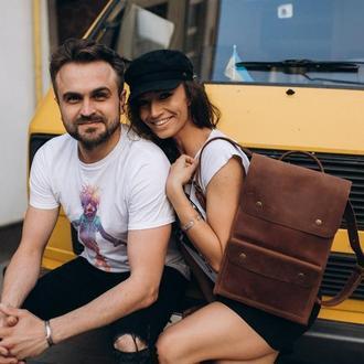 Рюкзак из натуральной кожи, рюкзак для парня, рюкзак для девушки, украинский рюкзак