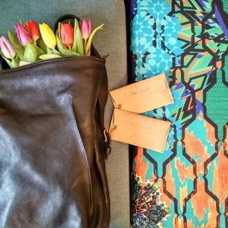Рюкзак кожаный мужской женский