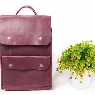 Городской рюкзак женский, рюкзак для ноутбука, цветной кожаный рюкзак, натуральная кожа