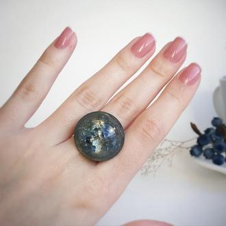 Кольцо с незабудками (модель № 536) Glassy Flowers