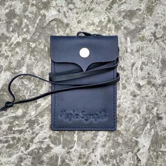 Кожаный чехол для пропуска, ID паспорта, водительского удостоверения