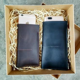 Чехол для смартфона кожаный