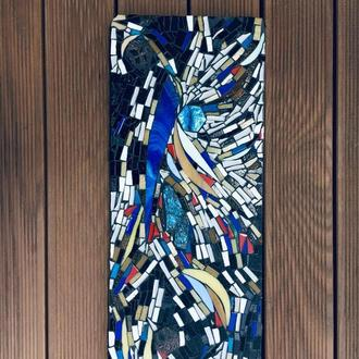 Панно из мозаики, витражного стекла с лабрадором