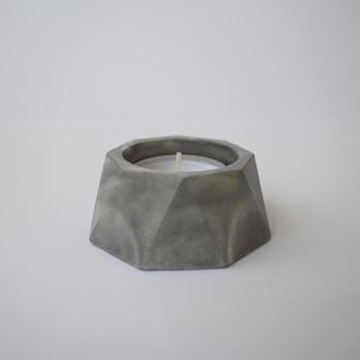 Подсвечники из бетона, бетонные подсвечники, бетонные горшки - кашпо