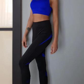 Синий топ для фитнеса