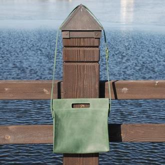 Зелёная женская кожаная сумка (10 цветов), женская сумка, кожаная сумка для женщин, женская сумка.