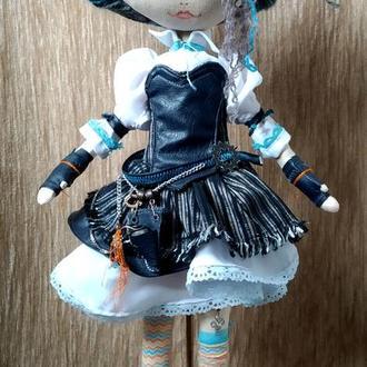 Кукла текстильная в стиле Стимпанк