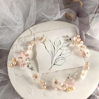 Свадебный венок, веночек для прически