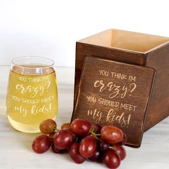 Сувенирный винный стакан в подарок для любителя вина