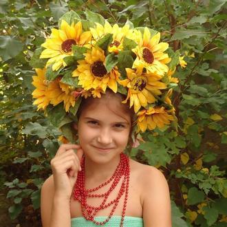 "Украинский венок ""Подсолнухи"""