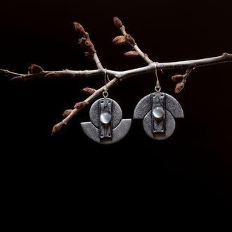 Серьги Иллюзия металла (асимметрия)
