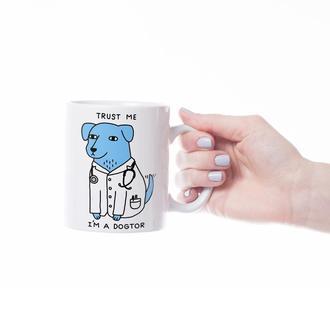 Чашка с принтом Dogtor