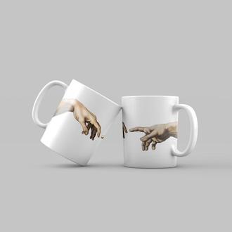 """Чашка с принтом """"Сотворение Адама"""""""